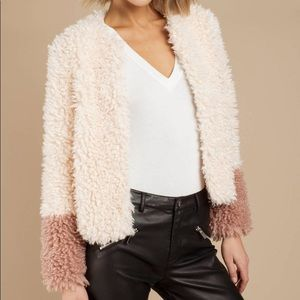 Honey Punch faux fur wooby jacket